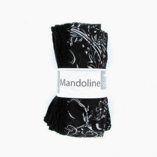 Mandoline 313 Čierna, biely vzor