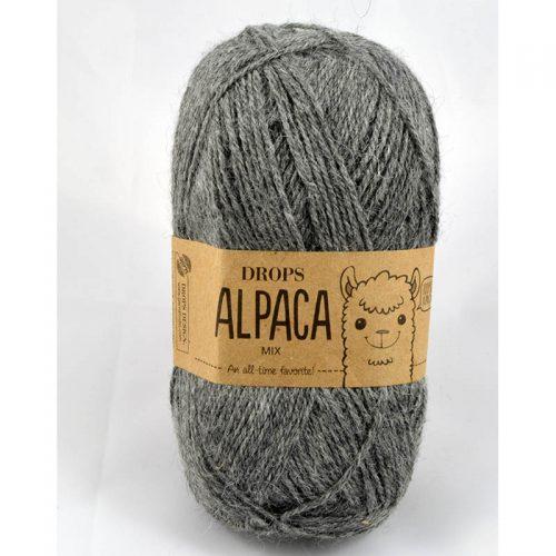 Alpaca mix 517 sivá stredná