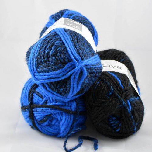 Baya 8 Parížska modrá/čierna