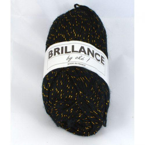 Brillance 404 čierna+zlatý lurex