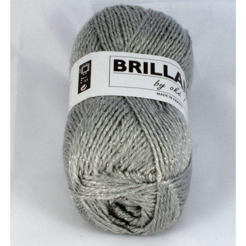 Brillance 408 sivá+strieborný lurex