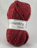 Country tweed 153 bordová