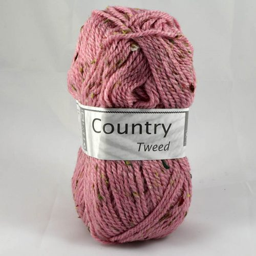 Country tweed 289 púdrová ružová