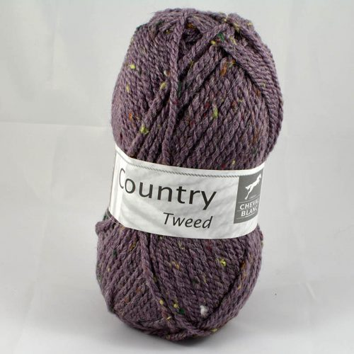 Country tweed 52 baklažán