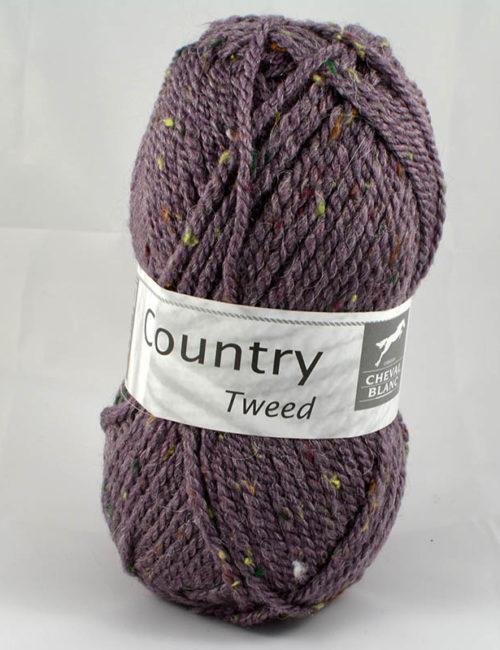 Country tweed 52 baklažán