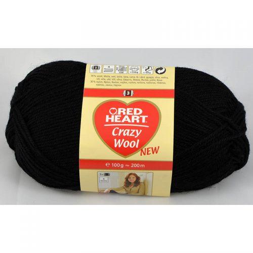 Crazy wool 12 čierna
