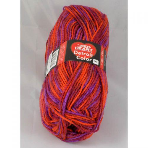 Detroit color 84 červená/fialová/rubínová