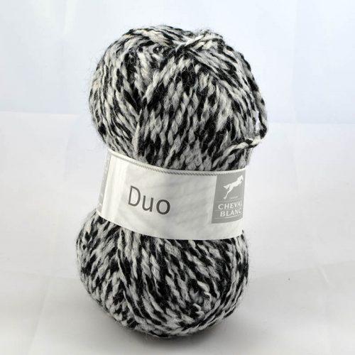 Duo 125 čierna/bledosivá