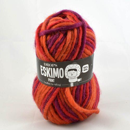 Eskimo print 19 hrdzavá/červená/fialová