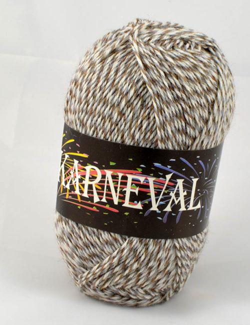 Karneval ponožkový béžová+sivá+biela