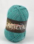 Karneval ponožkový smaragd+sivá