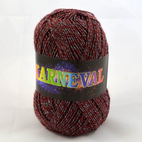 Karneval ponožkový vínová+sivá