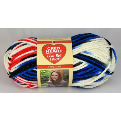 Lisa big color 7 modrá/červená/biela