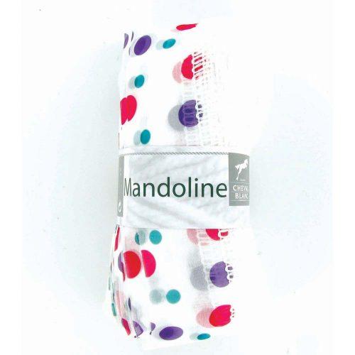 Mandoline 304 Biela, farebné bodky