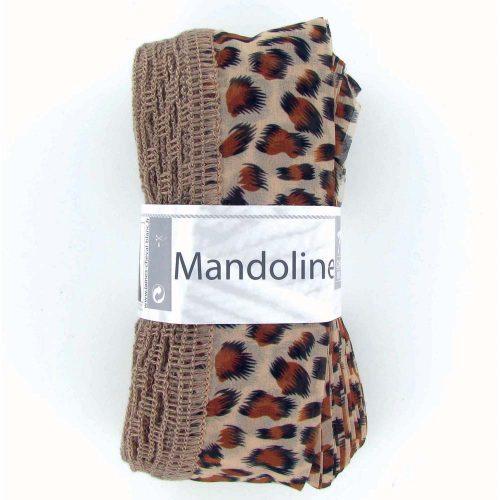 Mandoline 306 Hnedá - vzor gepard