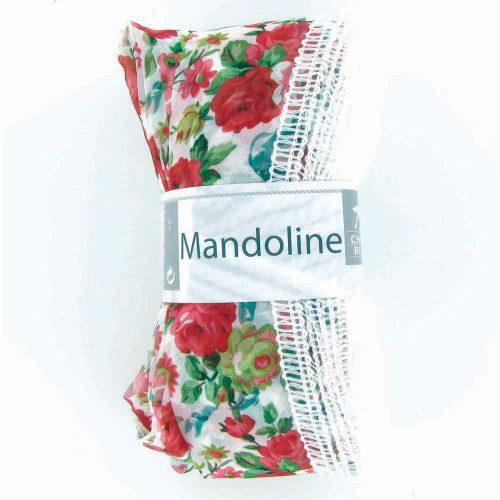 Mandoline 308 Biela, kvety