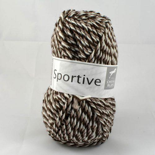 Sportive 407 biela/svetlá hnedá/čokoláda
