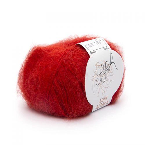 Suri alpaka 18 červená