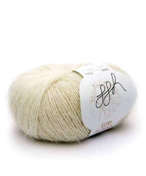 Suri alpaka 3 prírodná biela
