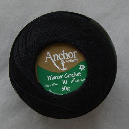 Anchor Mercer Crochet 10 čierna 403