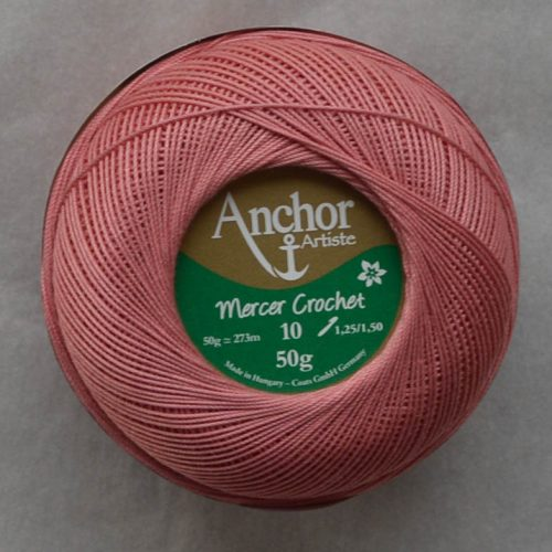 Anchor Mercer Crochet 10 staroružová 895