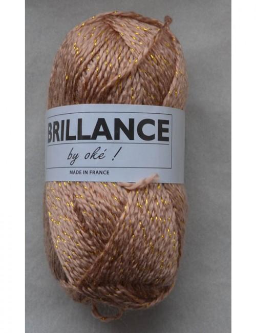 Brillance 304 ružové drevo+zlatý lurex