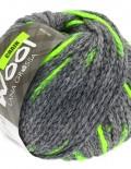 Chain 1 sivá/neónová zelená - 100g