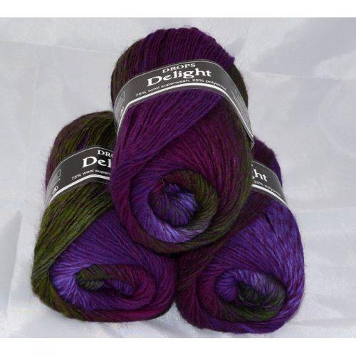 DROPS Delight 14 purpurová/lila/zelená