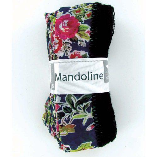 Mandoline 307 Tmavomodrá, kvety