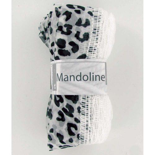 Mandoline 312 Biela, vzor leopard