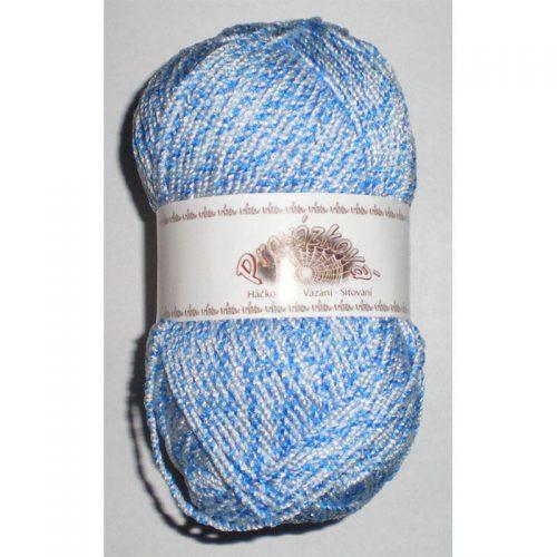 Provázková svetlá/azúrová modrá 434