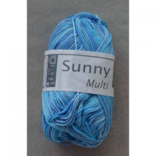Sunny multi 413 stredná modrá/tyrkys/bledomodrá