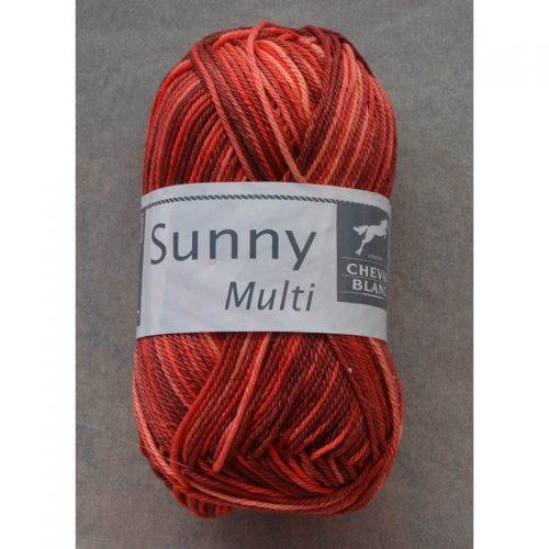 Sunny multi 450 červená/vínová/broskyňová
