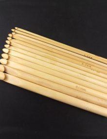 Sada bambusových háčikov bledá