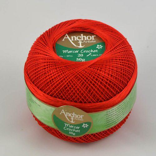 AA Mercer Crochet 20 9046 červená