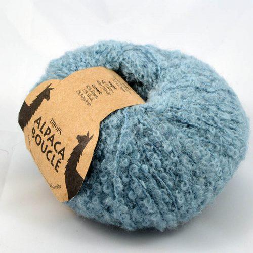 Alpaca boucle 7402 dymová modrá
