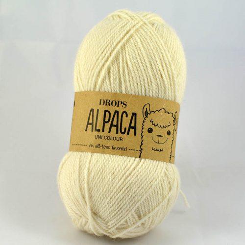 Alpaca uni 100 prírodná biela