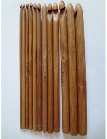 Sada bambusových háčikov tmavá