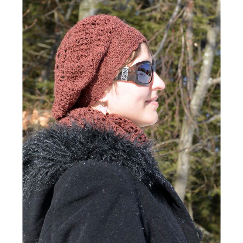 75d05aa41 Čipková háčkovaná baretka   Klbkovlny, vlna na pletenie