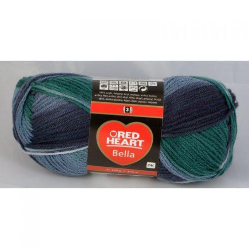 Bella 1004 smaragd/tmavomodrá/sivomodrá