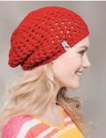 Háčkovaná jarná čiapka I