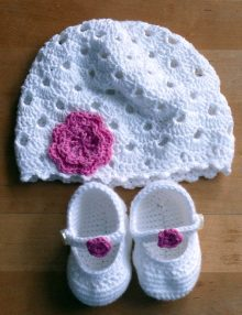Bábätkovská čiapočka a sandálky