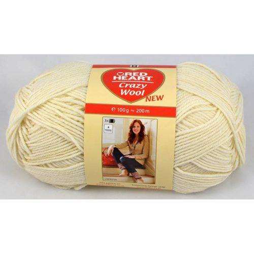 Crazy wool 1 prírodná biela
