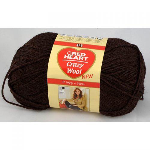 Crazy wool 6 čokoládová