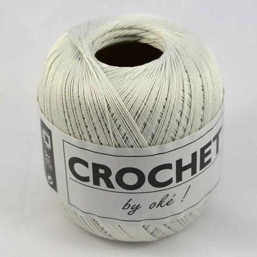 Crochet by OKE 71 perlová sivá