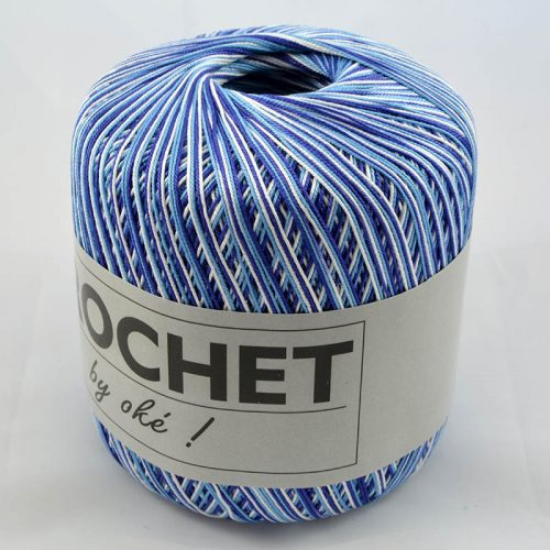 Crochet multi 301 modrobiely melír
