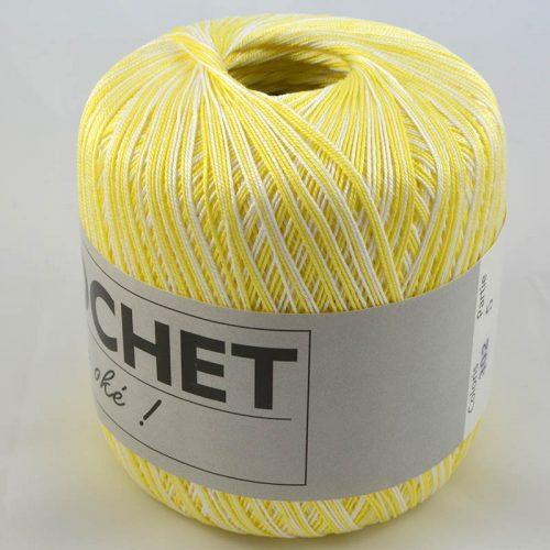 Crochet multi 302 žltobiely melír