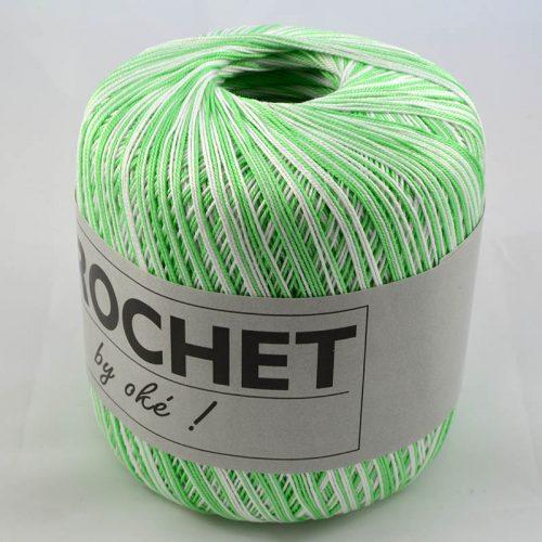 Crochet multi 304 zelenobiely melír