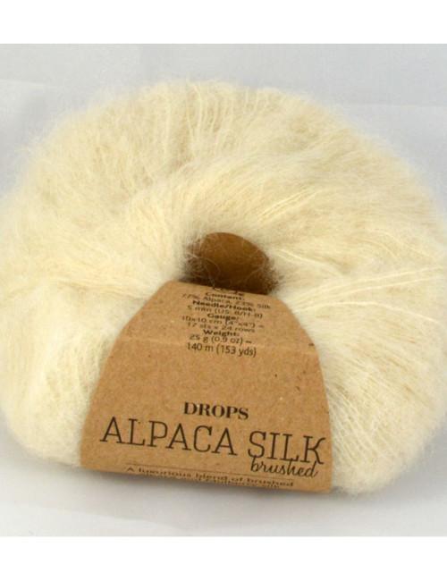 Drops Brushed alpaca silk 1 prírodná biela