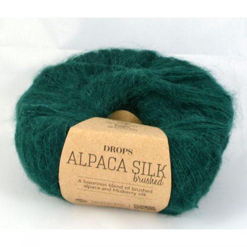 Drops Brushed alpaca silk 11 jedľová zelená
